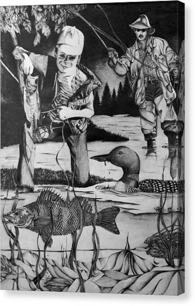 Fishing Vacation Canvas Print