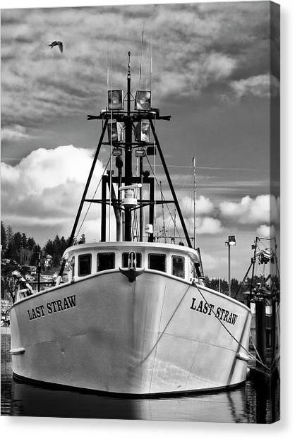 Crabbing Canvas Print - Fishing Vessel Last Straw by Carol Leigh