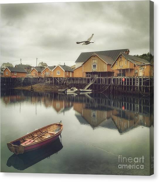 Fishing Village Canvas Print by Mariko Klug