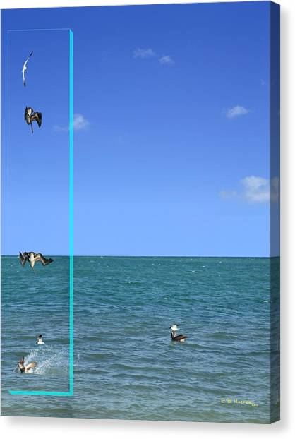 Canvas Print featuring the photograph Fishing With Friend by R B Harper