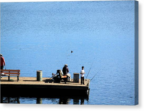 Fishing With Grandpa Canvas Print