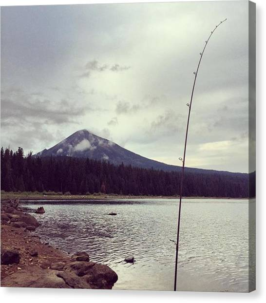 Trout Canvas Print - Fishing With My Hubby!! 🎣 by Stacy Hughes