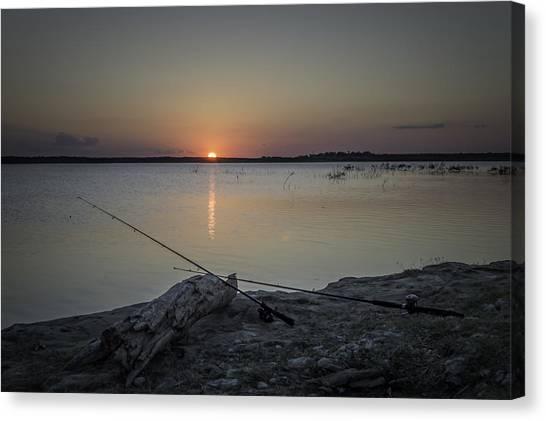 Fishing Poles Canvas Print