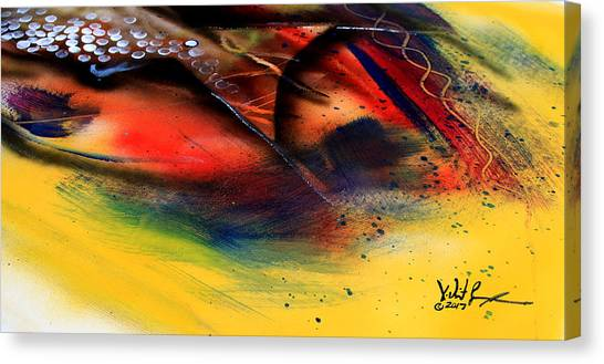 Fishtail Abstract Canvas Print