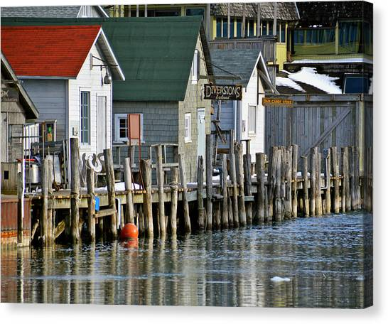 Fishtown In Leland Canvas Print