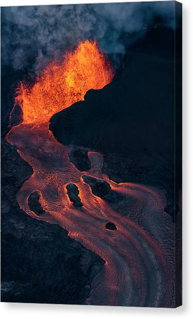 Pele Canvas Print - Fissure 8 by Christopher Johnson