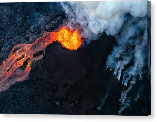 Pele Canvas Print - Fissure 8 Cinder Cone by Christopher Johnson