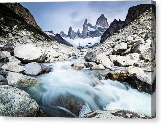 Fitz Roy On A Cloudy Day  Canvas Print