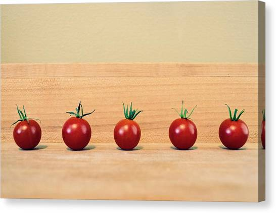 Five Cherry Tomatoes Canvas Print