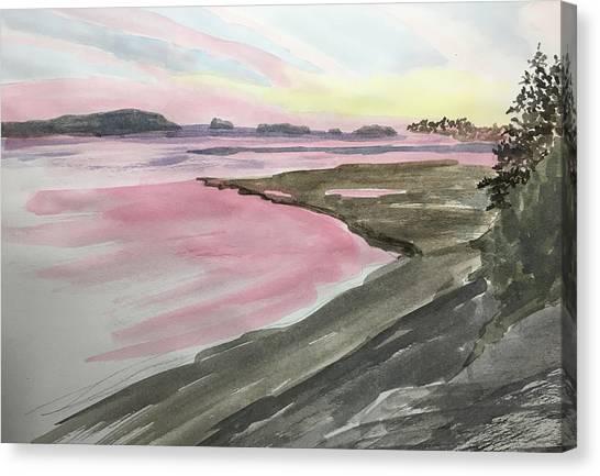 Five Islands - Watercolor Sketch  Canvas Print