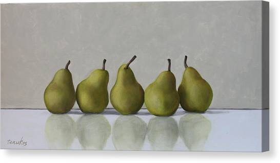 Five Pears Canvas Print