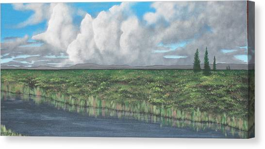 Five Pines Canvas Print by Candace Shockley