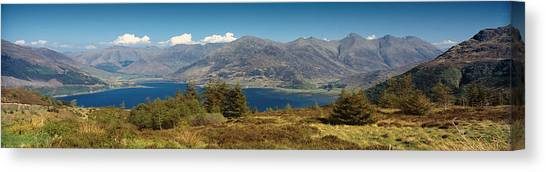 Five Sisters Of Kintail Canvas Print by Donald Buchanan