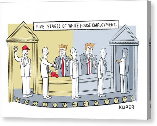 Five Stages Of White House Employment Canvas Print