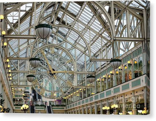Five To Three - At St. Stephens Green Shopping Centre In Dublin Canvas Print