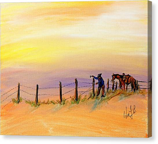 Fix On The Prairie Canvas Print