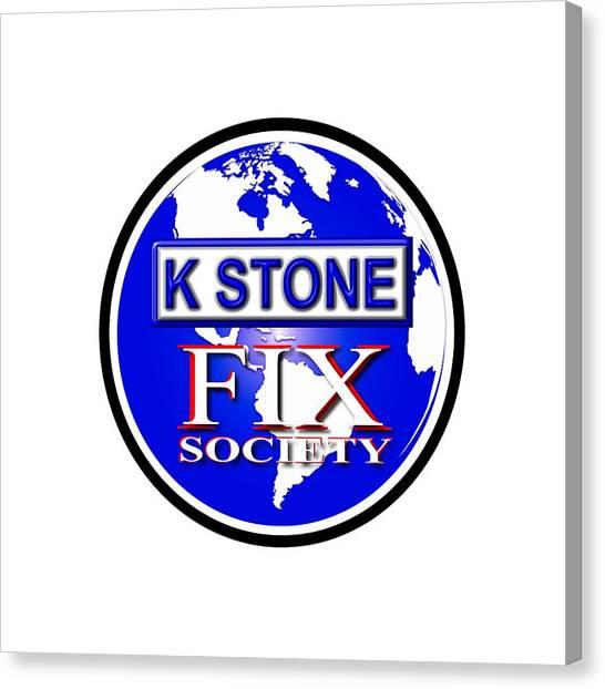 Canvas Print - Fix Society by K STONE UK Music Producer