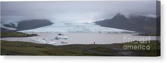 Glacier Bay Canvas Print - Fjallsarlon Panorama  by Michael Ver Sprill