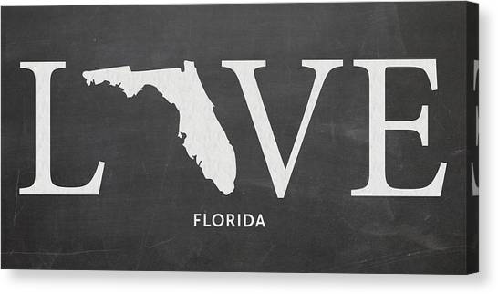 University Of Florida Canvas Print - Fl Love by Nancy Ingersoll