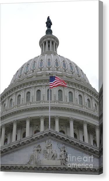 Flag And Dome Canvas Print