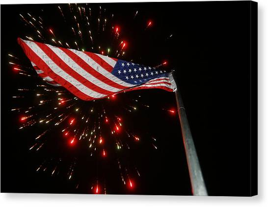 Flag In All Its Fiery Glory Canvas Print
