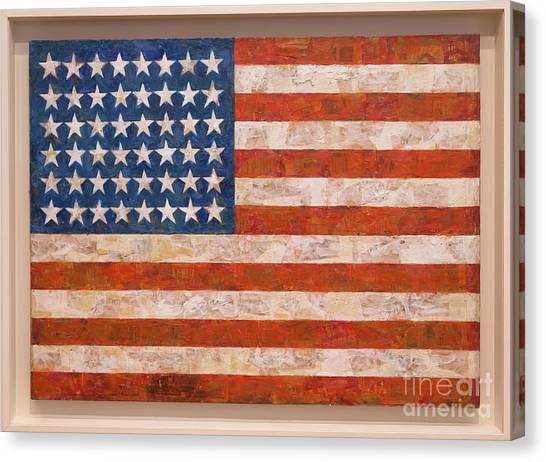 Jasper Johns Canvas Print - Flag by Peter Barritt