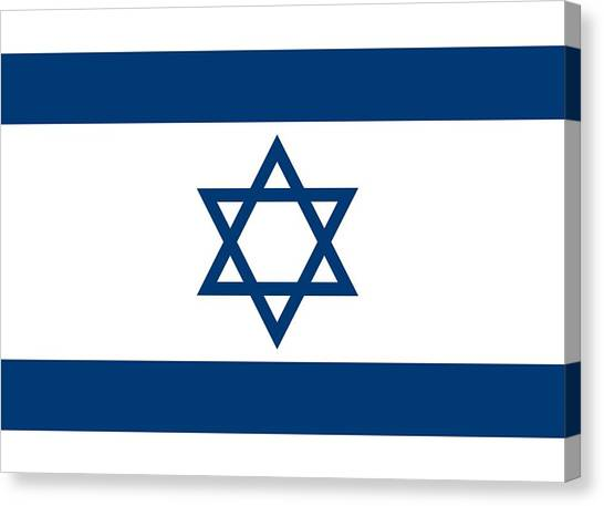 Judaism Canvas Print - Flag Of Israel by Unknown