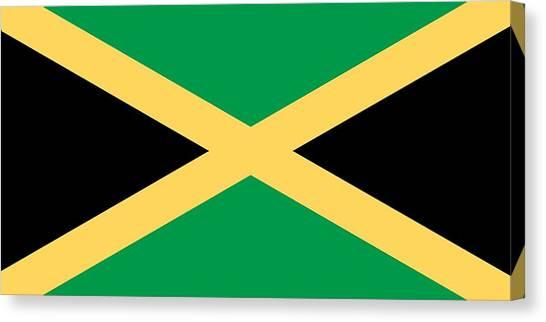 Flag Of Jamaica Canvas Prints | Fine Art America
