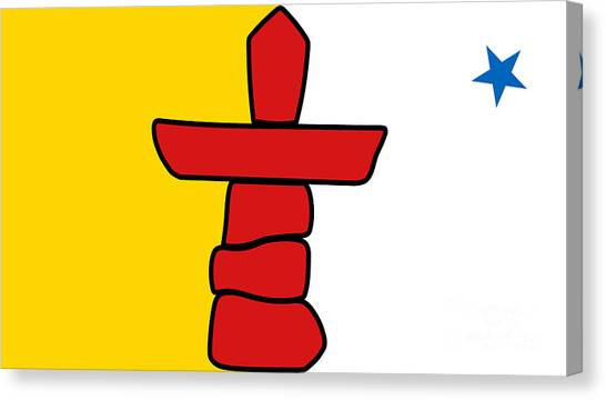 Flag Of Nunavut High Quality Authentic Hd Version Canvas Print