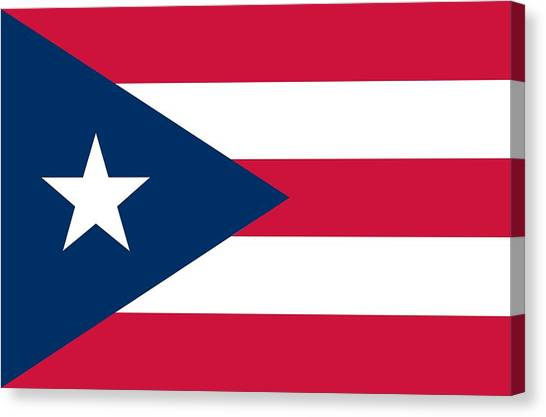 Puerto Canvas Print - Flag Of Puerto Rico by Unknown