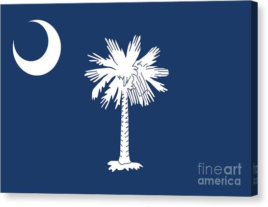 Flag Of South Carolina Authentic Version Canvas Print