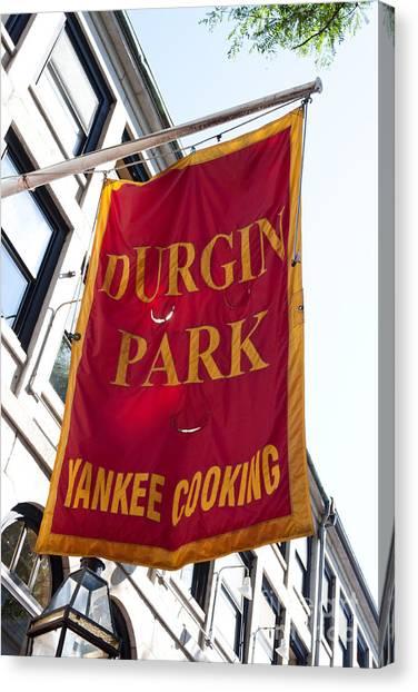 Flag Of The Historic Durgin Park Restaurant Canvas Print