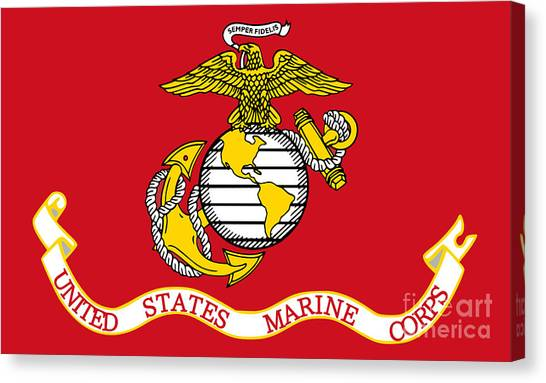 Flag Of The United States Marine Corps Canvas Print