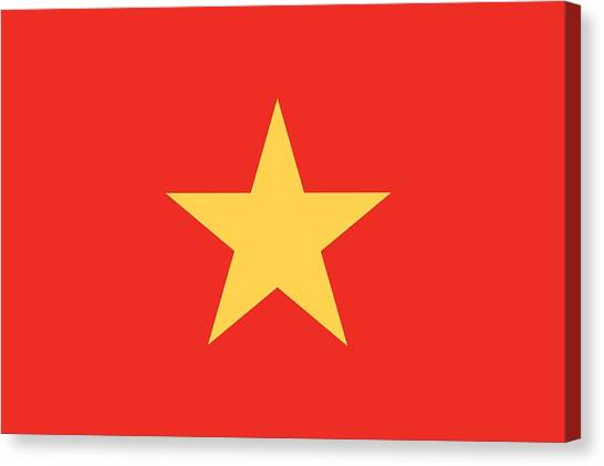 Vietnamese Canvas Print - Flag Of Vietnam by Unknown