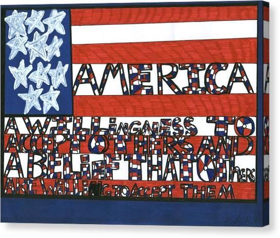 Flag One Canvas Print