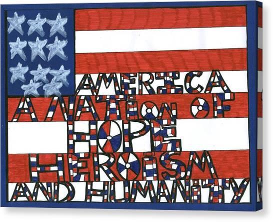 Flag Three Canvas Print
