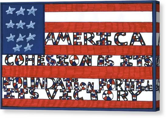 Flag Two Canvas Print