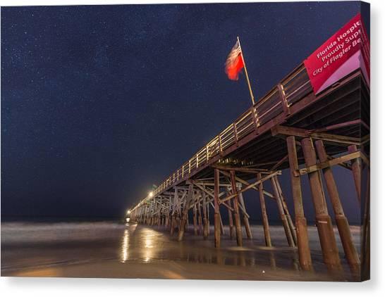 Flagler Beach Canvas Print - Flagler Beach by Kristopher Schoenleber