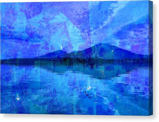Flagstaff Lake Blu Canvas Print