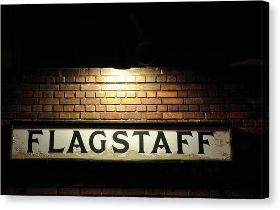 Flagstaff Train Station Canvas Print