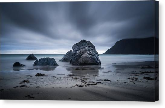 Flakstad Beach Canvas Print