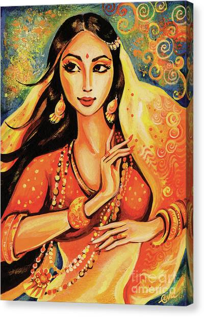 Spiritual Portrait Of Woman Canvas Print - Flame by Eva Campbell
