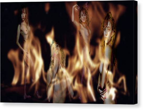 Flame Nymphs Canvas Print