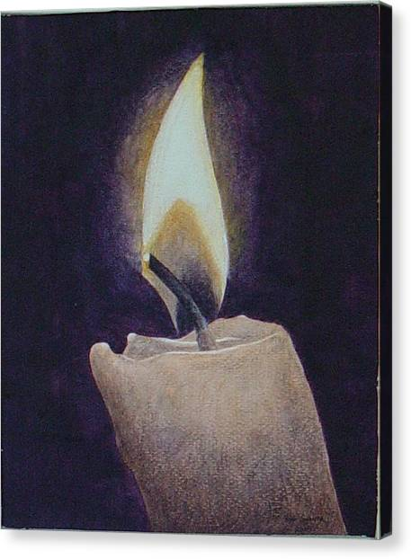 Flame Canvas Print by Ron Sylvia