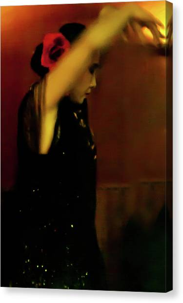 Canvas Print featuring the photograph Flamenco 37 by Catherine Sobredo