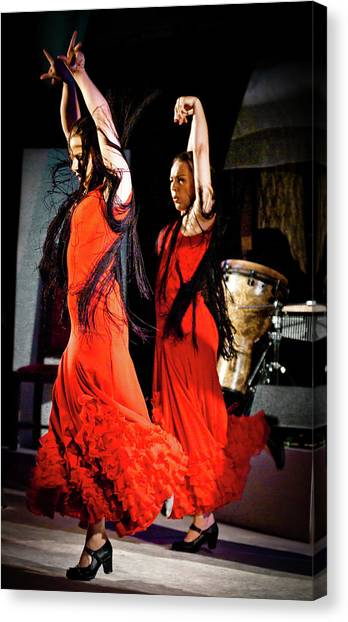 Canvas Print featuring the photograph Flamenco 38 by Catherine Sobredo