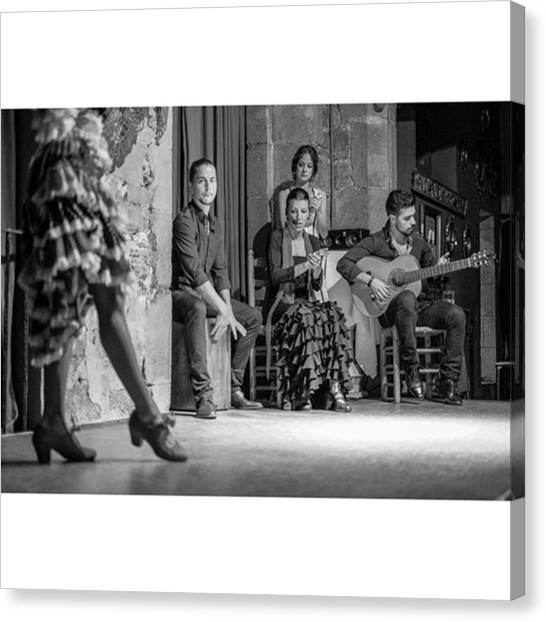 Flamenco Canvas Print - Flamenco At The Palau Dalmases by Marcelo Valente