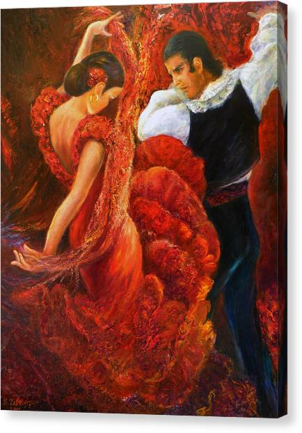 Flamenco Couple 2 Canvas Print