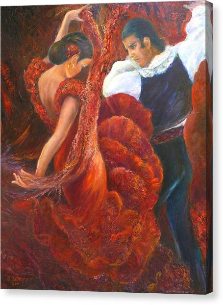 Flamenco Couple Fa Canvas Print