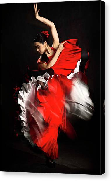 Flamenco Dancer - 01 Canvas Print